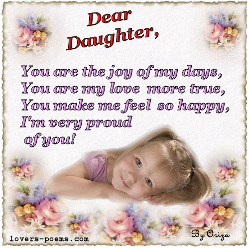 message to daughters and sons - i love you, baby!! - happy, Ideas