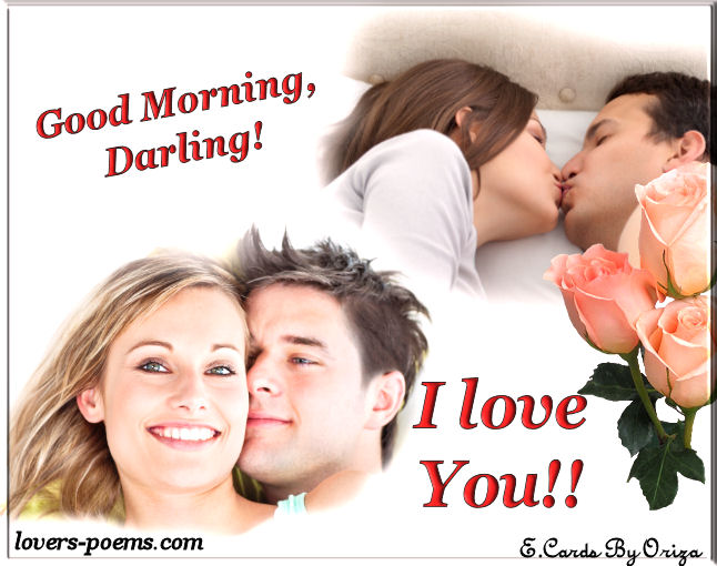 Good Morning Love Kiss Message : Good morning darling oriza portal lovers poems