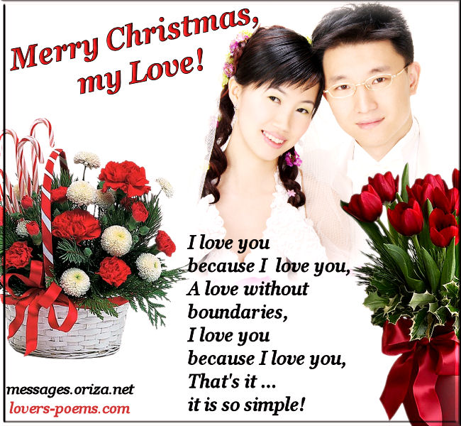 Romantic Love christmas Message