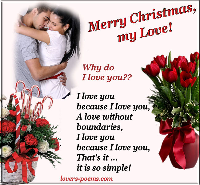 Romantic love christmas message 2 oriza portal lovers love christmas poem m4hsunfo