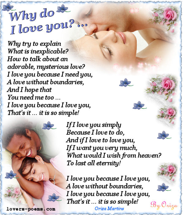 Love poem by Oriza · Why do I love you?
