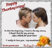 Happy Thanksgiving, my love...